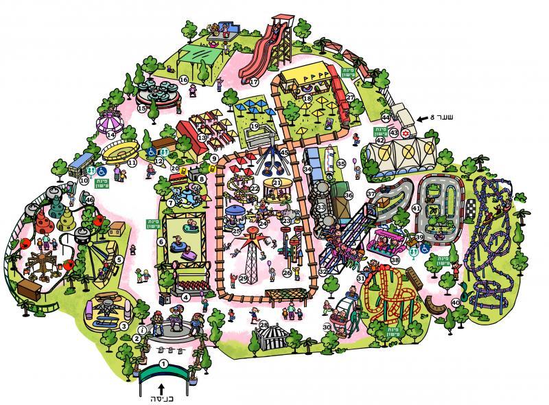 מפת הלונה פארק 18.7.17