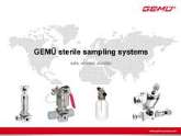 GEMU Sterile sampling systems